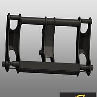 Фронтальное быстросъемное устройство для экскаватора-погрузчика