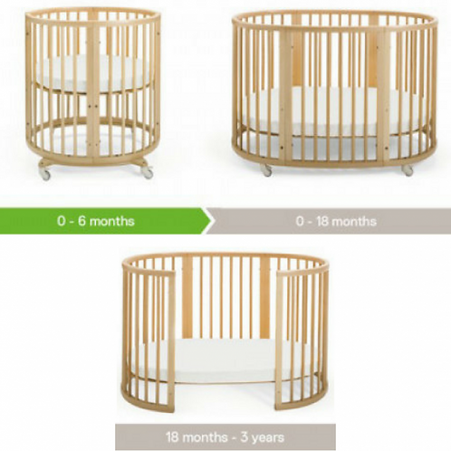 Stokke Sleepi Oval Crib/Bed & Pad