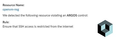 ARGOS Slack notification