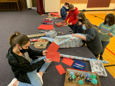 Large Christmas gift project benefitting local refugees