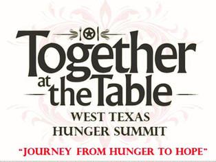 Juntos en la mesa en la cumbre del hambre del oeste de Texas