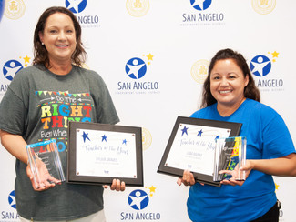 San Angelo ISD Announces District Elementary and Secondary Teachers of theYear