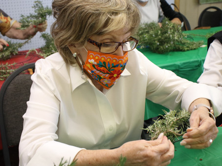 Rosemary Wreath Symbolizes Strength, Remembrance
