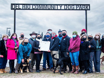 Ribbon cutting held for dog park