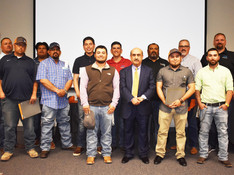 Ten students graduated from OJT program