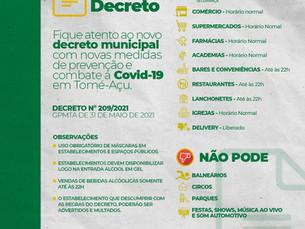 Novo decreto municipal para prevenção e combate à COVID-19