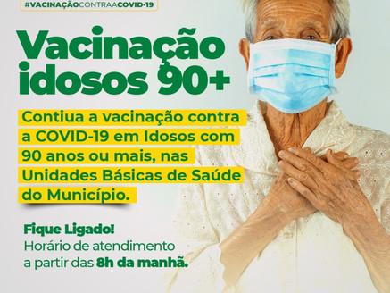 A vacinação dos idosos com 90 anos ou mais, continua!