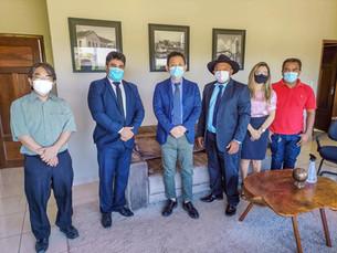 市長は日本の最も名誉ある領事、森田聡氏を受け取りました
