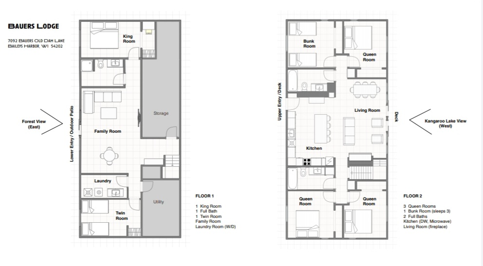 Bauers Lodge Floorplan