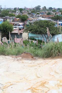 Vue des slums
