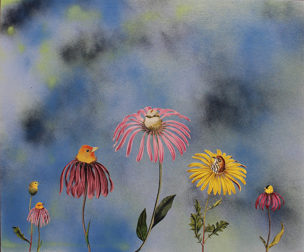 Bird-flowers