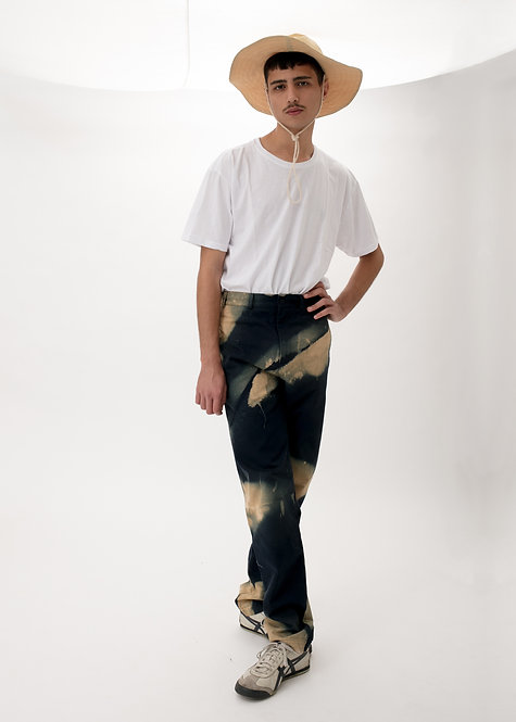 BLEACHED STRAIGHT TROUSERS