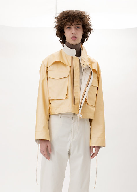 CROPPED GOLD FIELD COAT