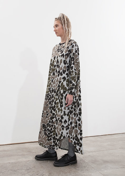 LEOPARD CAMOUFLAGE T DRESS