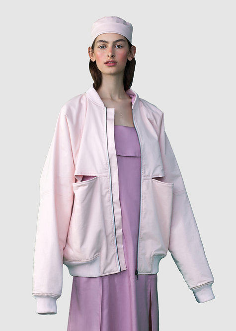 ROSE PINK BOMBER JACKET