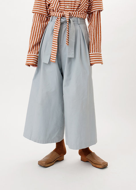 CROPPED WIDE TROUSERS