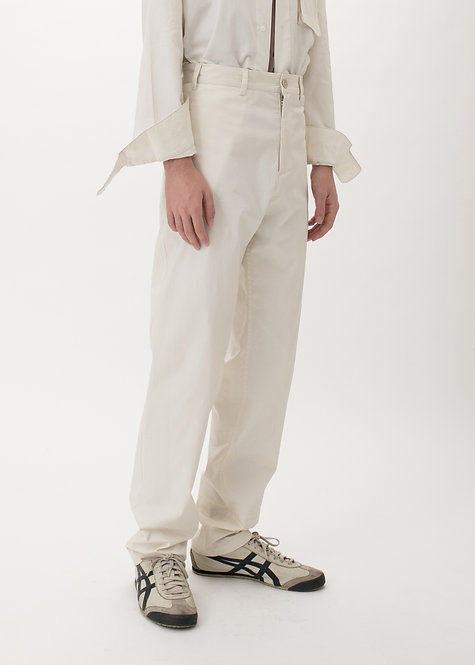 IVORY STRAIGHT TROUSERS