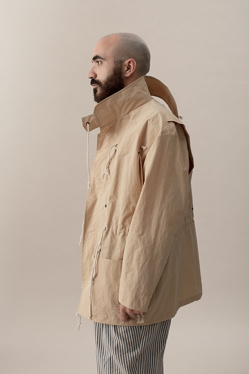 CRUNCHY FIELD COAT - BEIGE