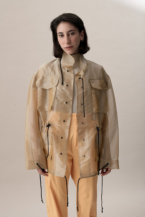 ORGANZA FIELD COAT - BEIGE