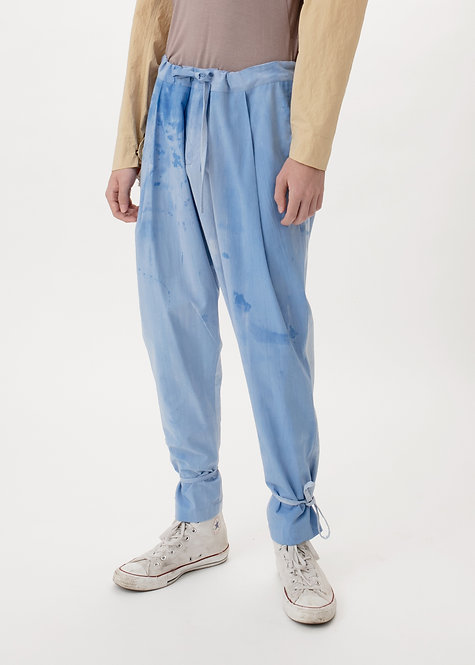BLEACHED PLEATED TROUSERS