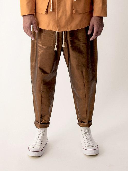 GOLD BAGGY PANTS