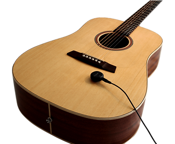 Cling On Acoustic Pickup attached to guitar soundboard