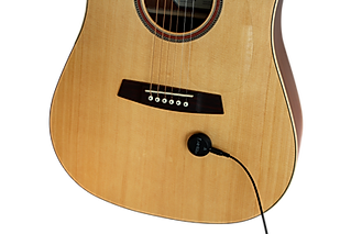 cling on acoustic pickup on guitar