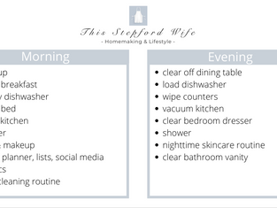 My Daily Routines: Cleaning, Morning & Evenings
