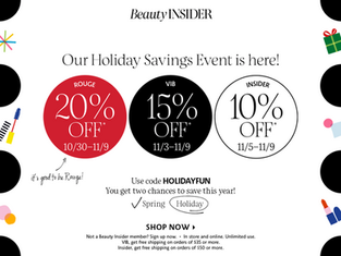 My Sephora Beauty Insider Holiday Savings Event Picks