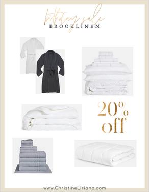 Brooklinen Birthday Sale 20% Off