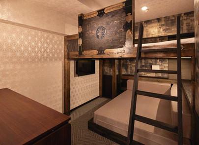 忍者屋敷のわくわく二段ベッドルーム.jpg