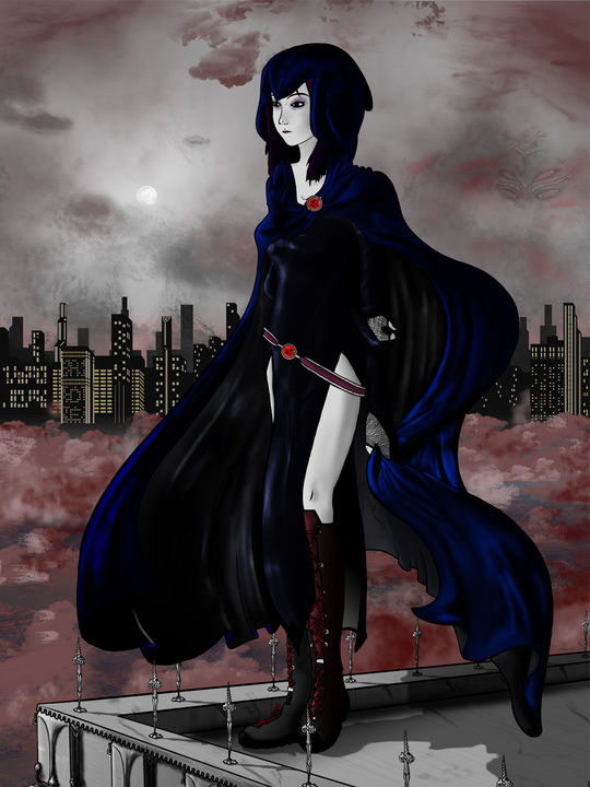Raven on the Roofs of Gotham - Mantel variation