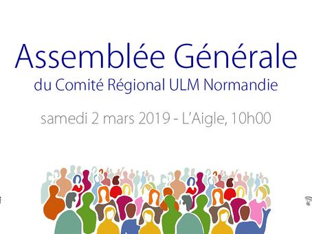 2 mars 2019 : Assemblée Générale