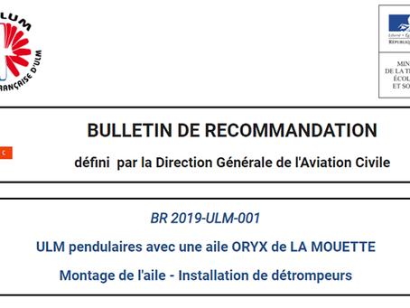 BULLETIN DE RECOMMANDATION