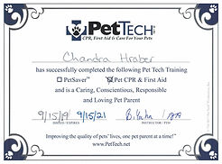 PetTech First Aid and CPR Certification.