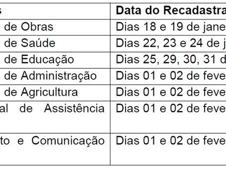 Recadastramento dos Servidores Públicos Municipais de Porto Acre