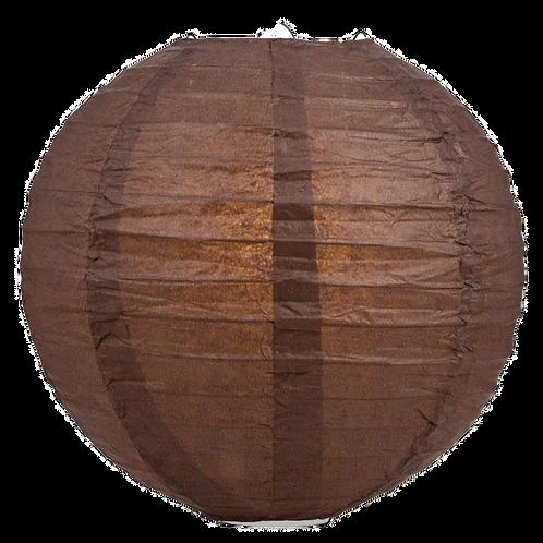 """16"""" - Paper Chinese Lantern - Brown"""