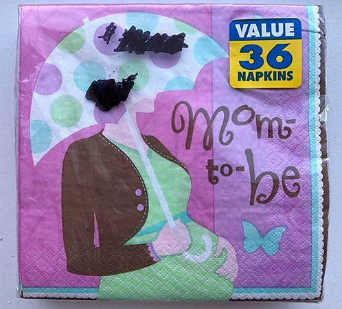 """""""Mom-to-be"""" Baby Shower Paper Napkins - 36 Pack"""