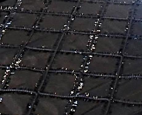 70inSquare ~ Black Squared Sparkle Fringe