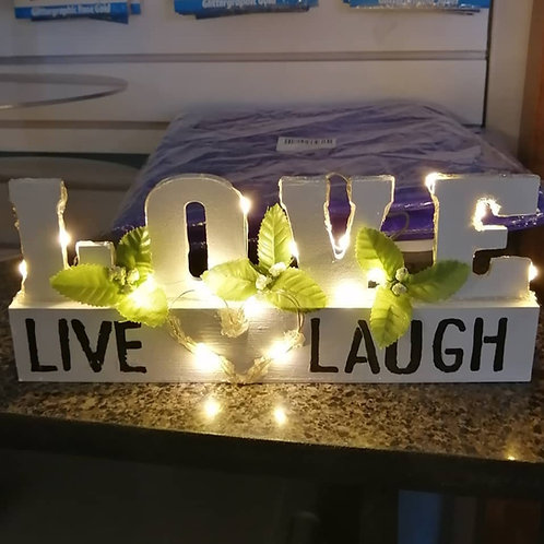 """Table """"LOVE"""" Sign"""