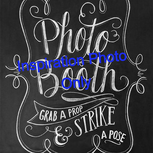 Table Photo Booth Sign
