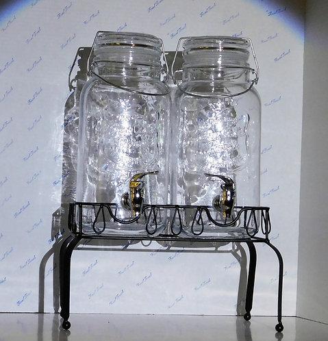 Double Glass Juice Dispenser