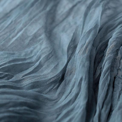Table Runner ~ Dusty Blue Cheesecloth