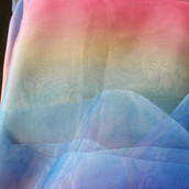 Swag ~ Rainbow Organza