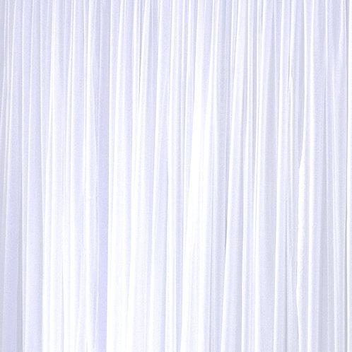 15' Long ~ White Shimmer Sheer