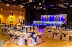 White & Royal Blue Reception