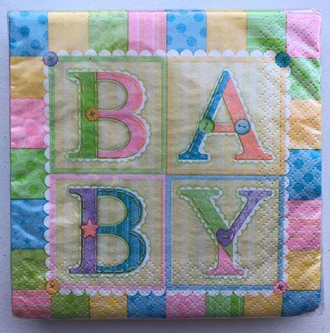 """BABY"" Shower Paper Napkins - 36 Pack"