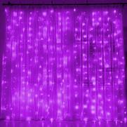 Purple Curtain Light