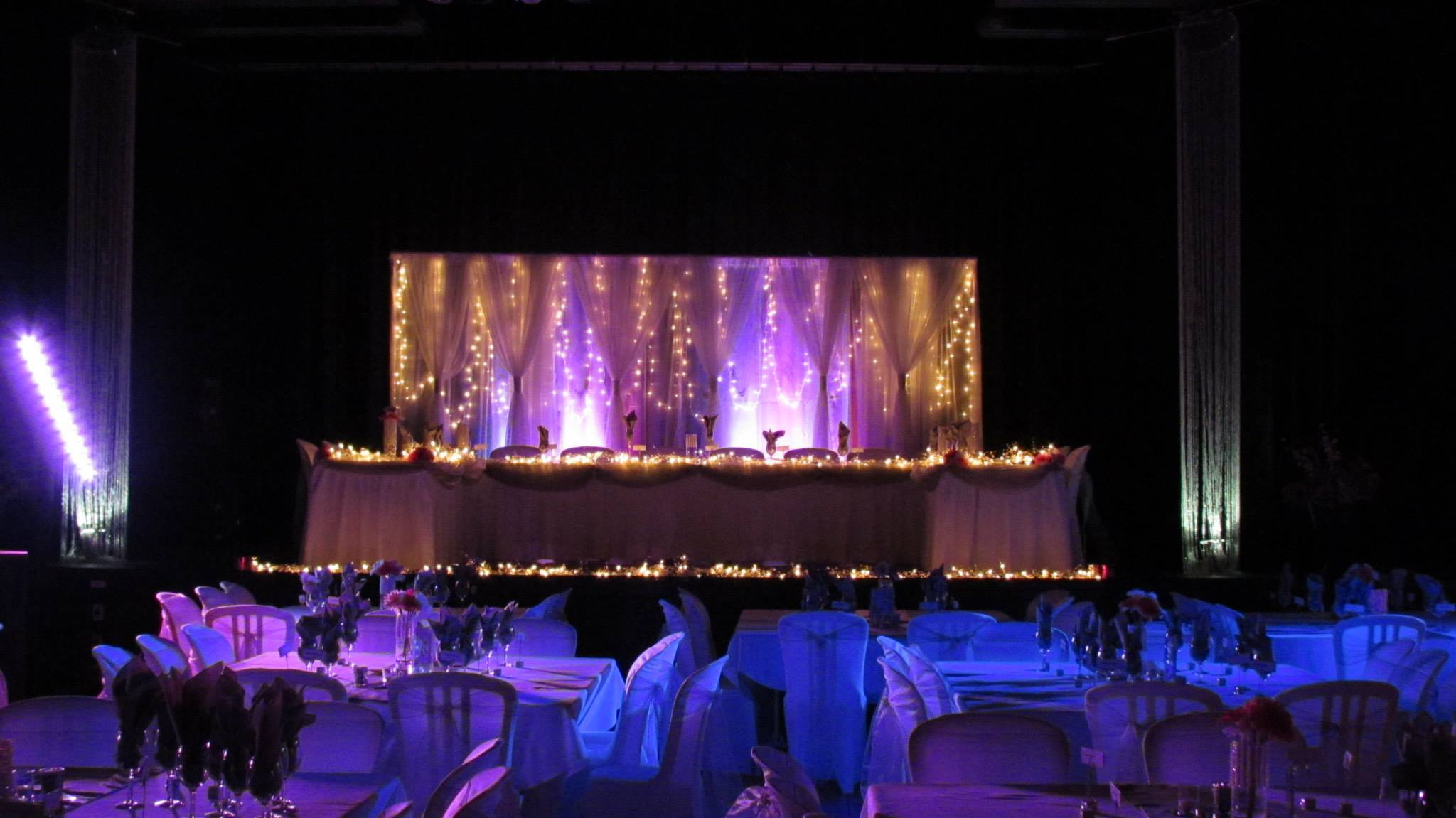 Silver & Purple Reception