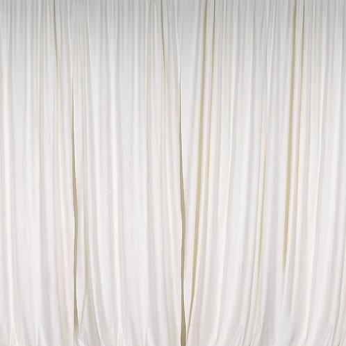 8' Long ~ Off-White Sheer